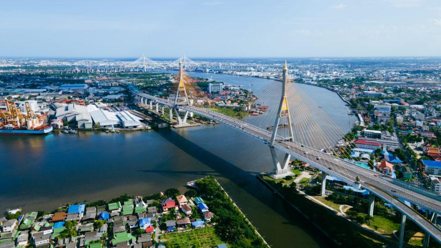 Bhumibol Bridge 2 (Phra Pradaeng, Samut Prakan, Thailand)